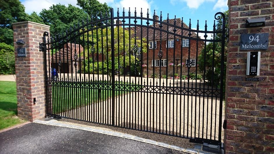Classic Wrought Iron Gates In Surrey Wooden Garden Gate Metal
