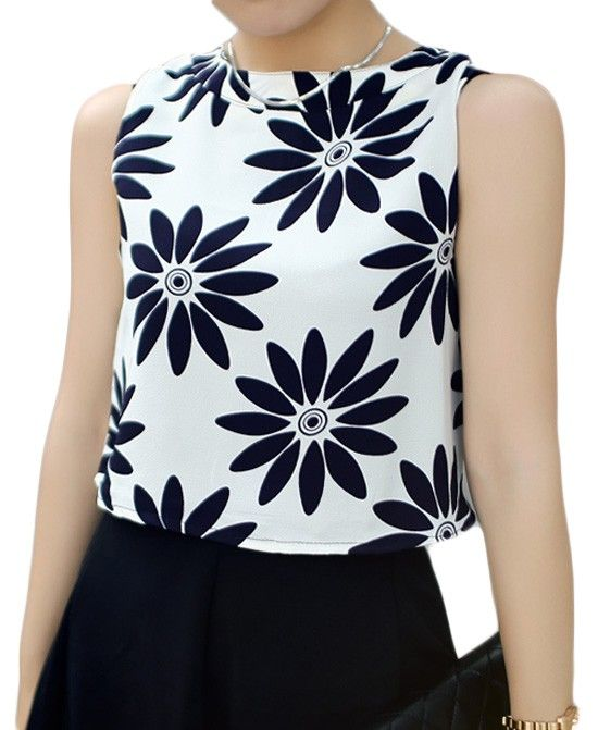 Floral Printed Sleeveless Tank
