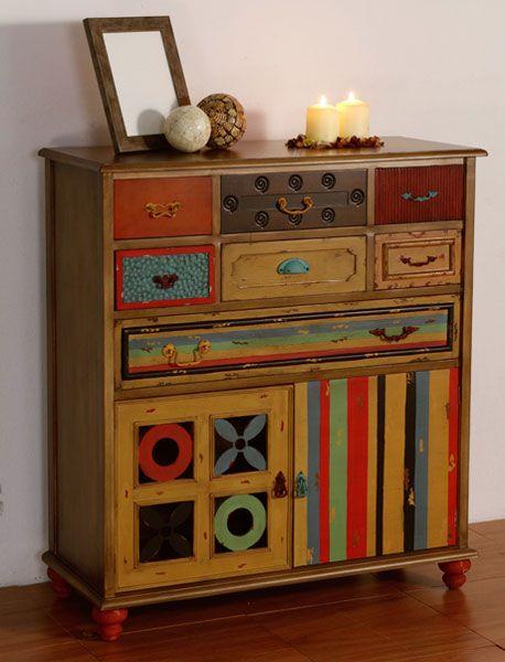 mueble auxiliar antic clutter mueble de colores