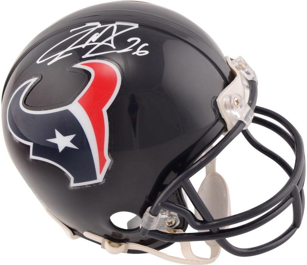 Lamar miller texans signed riddell mini helmet fanatics