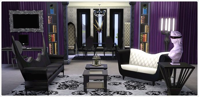 Gothic Glamour  Living Room And Home Office Collection   Store .