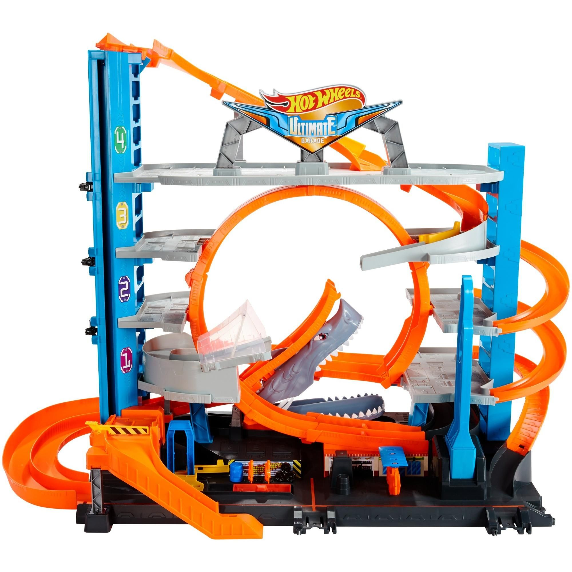 Buy Hot Wheels Ultimate Garage Tower Shark Loop Racetrack Set With