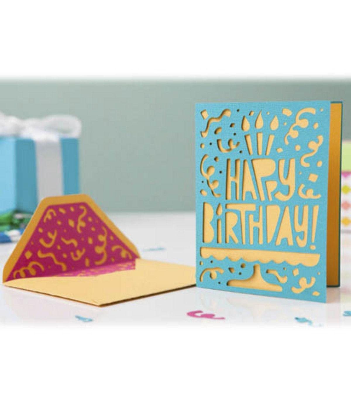 Happy Birthday #card -- Make One With The #cricutMini