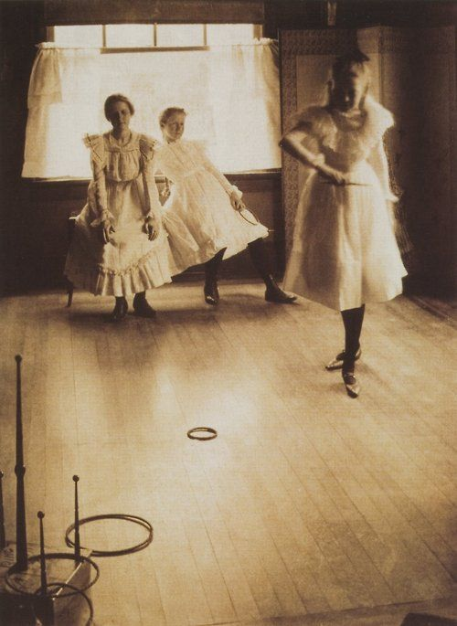 """The Ring Toss (1899); Clarence H. White - photographer."""