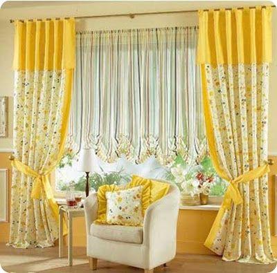diseos de cortinas para salas y comedores