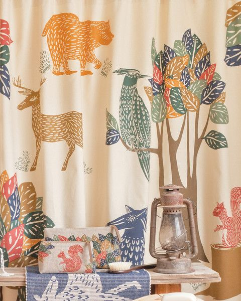 Flora Fauna Shower Curtain By Danica Studio Kids Animal Print