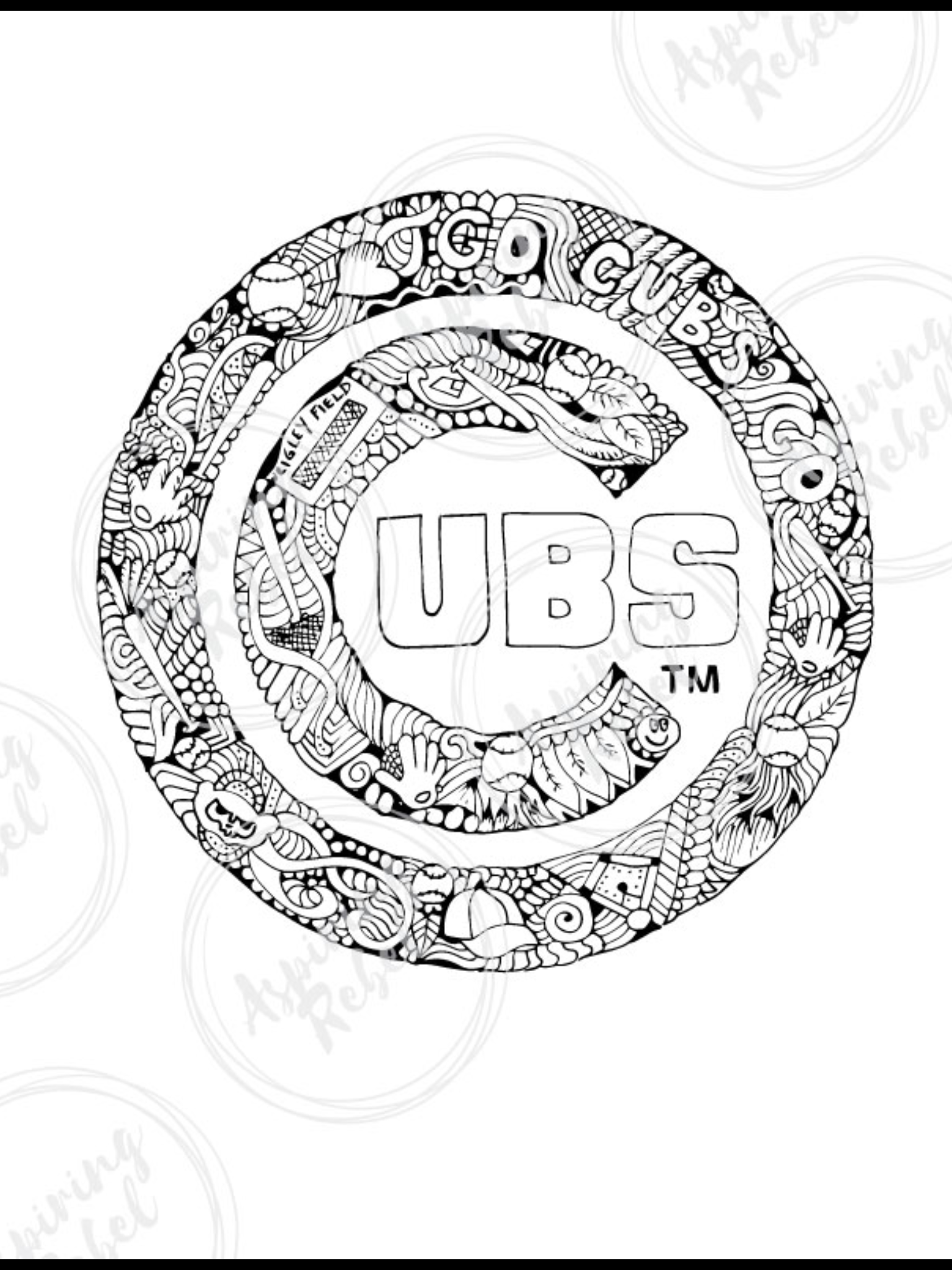 Pin By Terri Arduini On Cubs Doodle Coloring Coloring Pages Chicago Cubs