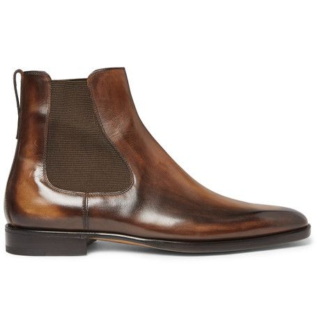 Leather Chelsea Boots - Dark brownBerluti