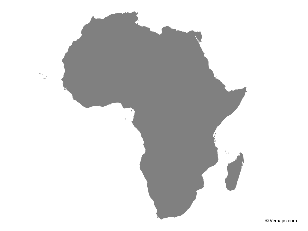 Grey Map Of Africa Free Vector Maps Africa Map Map Vector Asia Map