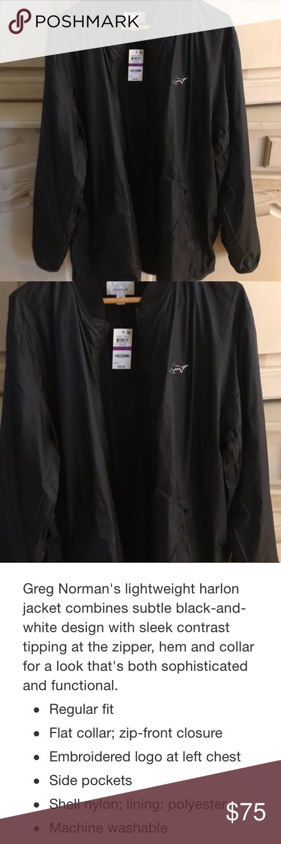 New Greg Norman Jacket Jackets Lightweight Shirts Lightweight Jacket