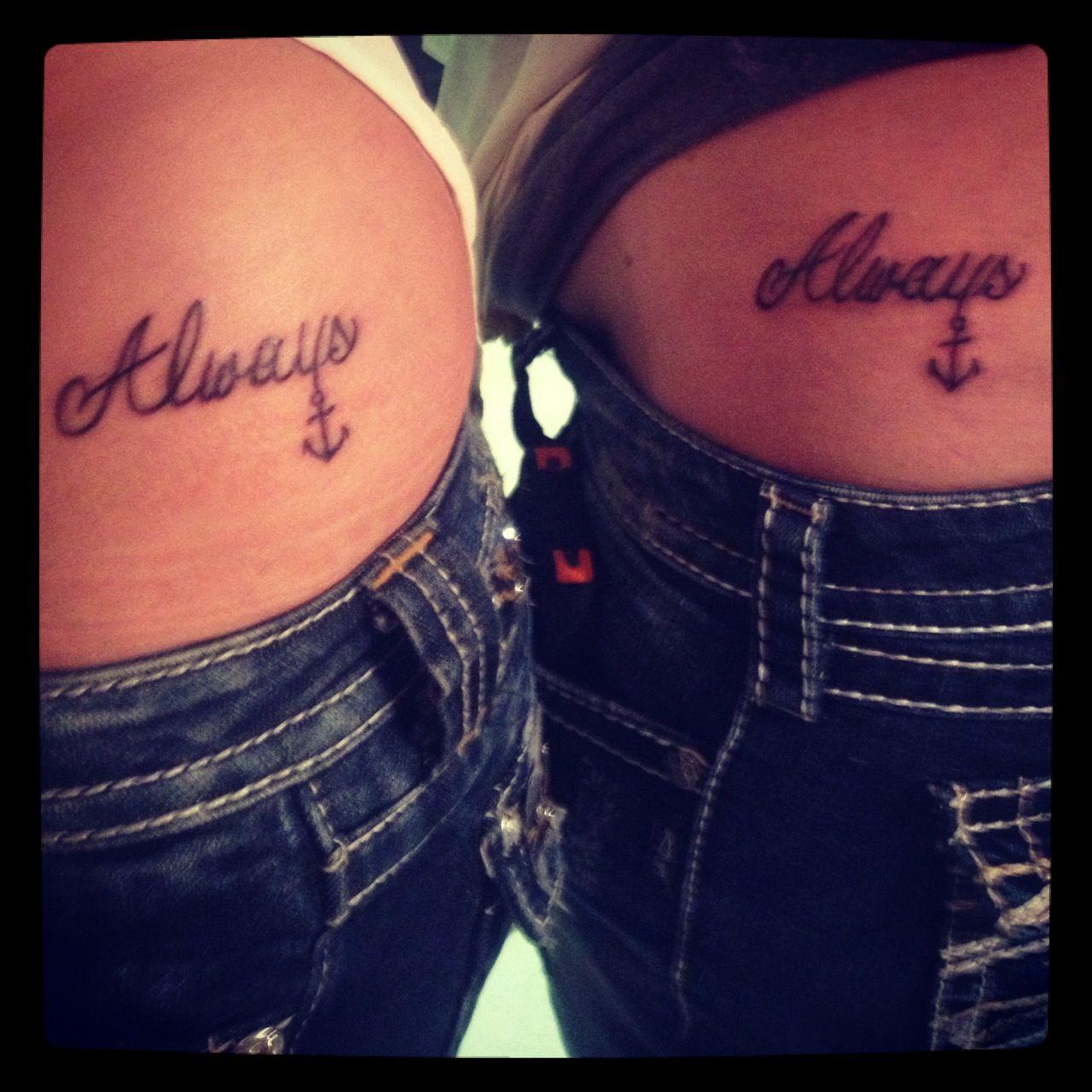 always anchored best friend tattoo things i love pinterest