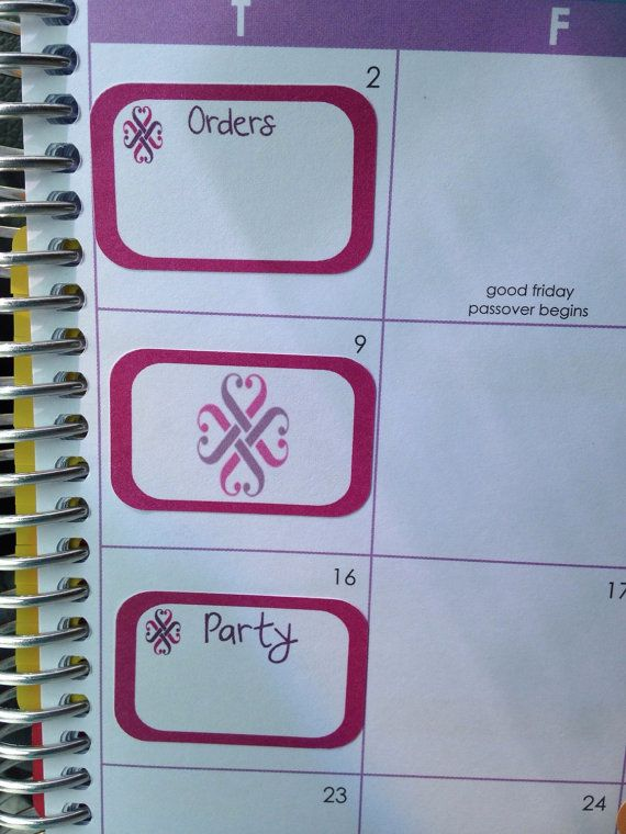 This listing is for 8 half box sticker with jamberry logo orders 12 half box