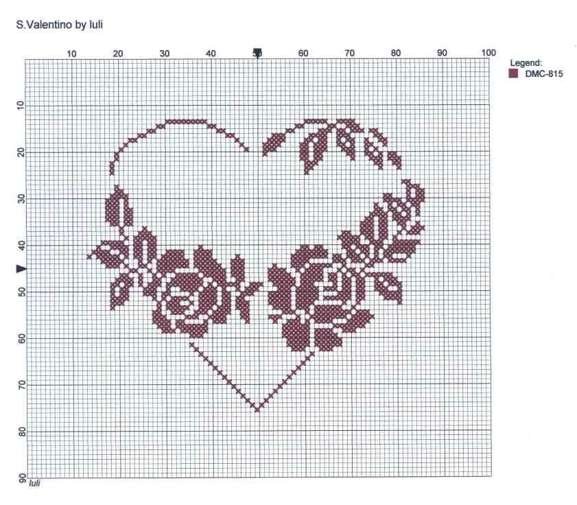 luli: ♥ S. Valentino ♥ | Broderie | Pinterest | Punto de cruz ...
