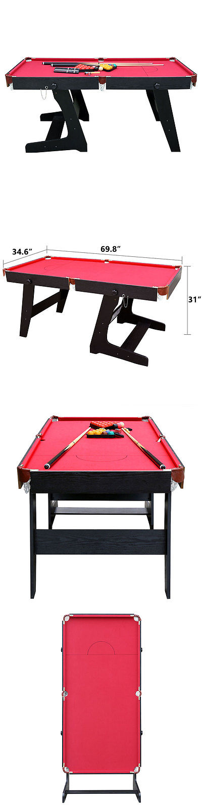 Tables Professional Folding Snooker Billiards Table With Pool - Outdoor pool table ebay