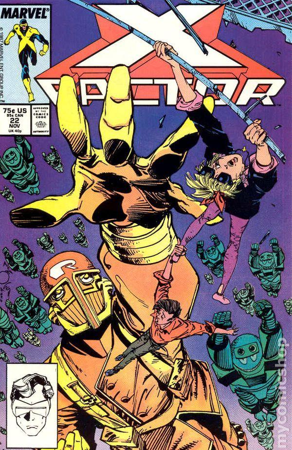 X-Factor (1986 1st Series) 22 Marvel Comics Modern Age Bronze Copper Age Comic book covers Super Heroes VilliansX-men Mutants