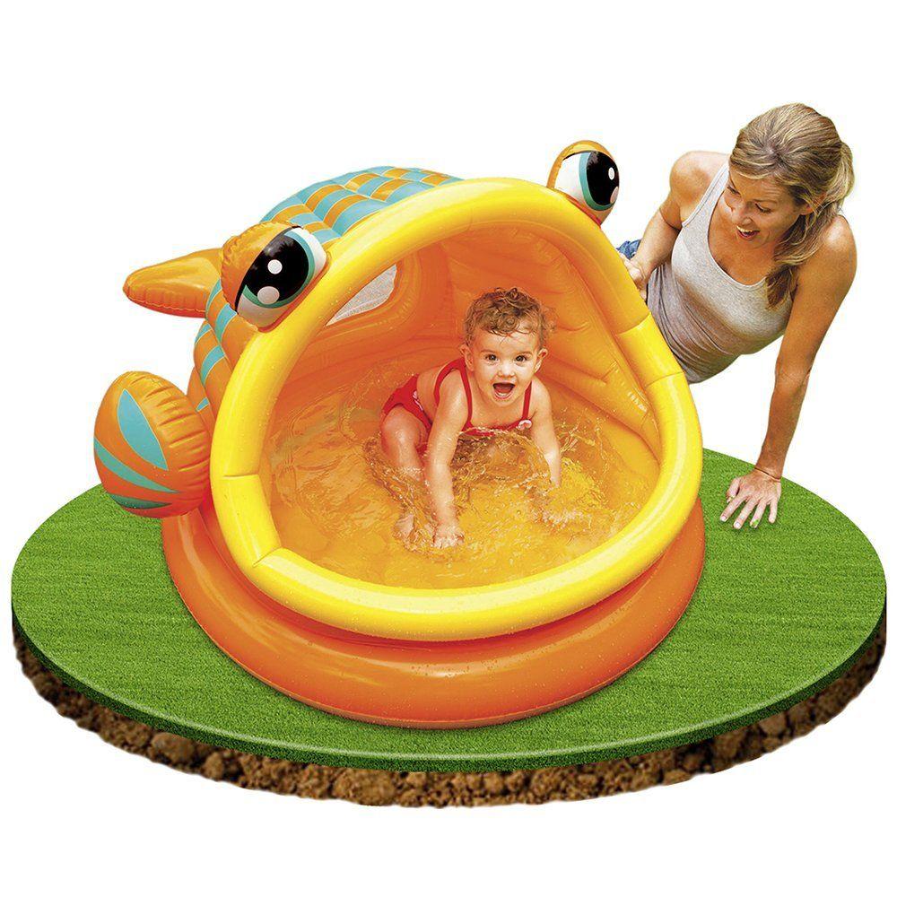 Intex 57109 Piscine Gonflable Enfant Avec Pare Soleil Lazy Fish Var Amazon Fr Jeux Et Jouets Piscine Gonflable Gonflable Jeux Gonflables Piscine