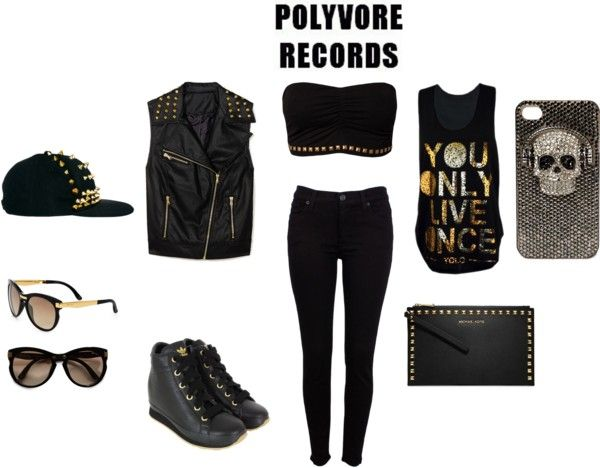 """""""BECKY G: MONSTER REMIX"""" by sarah-cromwell ❤ liked on Polyvore"""