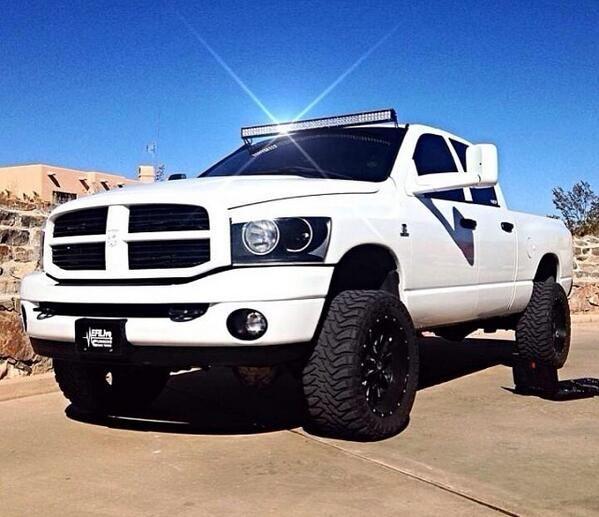 Lifted White Dodge Ram Truck Dodge Trucks Ram Dodge Trucks
