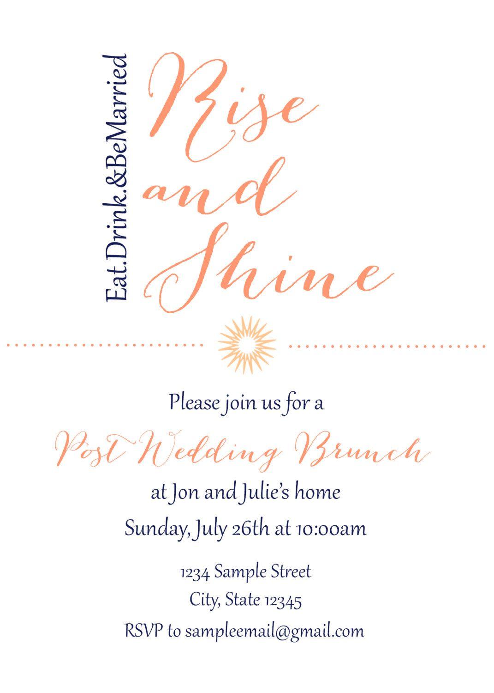 Post Wedding brunch invitation by YourLifeStoryDesign on Etsy ...