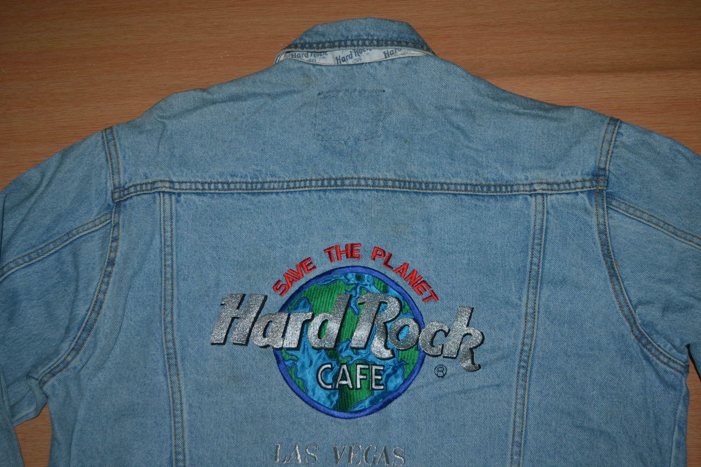 Vintage 90s Hrc Hard Rock Cafe Las Vegas Embroided Logo Denim Jeans Jacket Vintage Jacket Denim Jean Jacket Hard Rock Cafe [ 1536 x 2304 Pixel ]