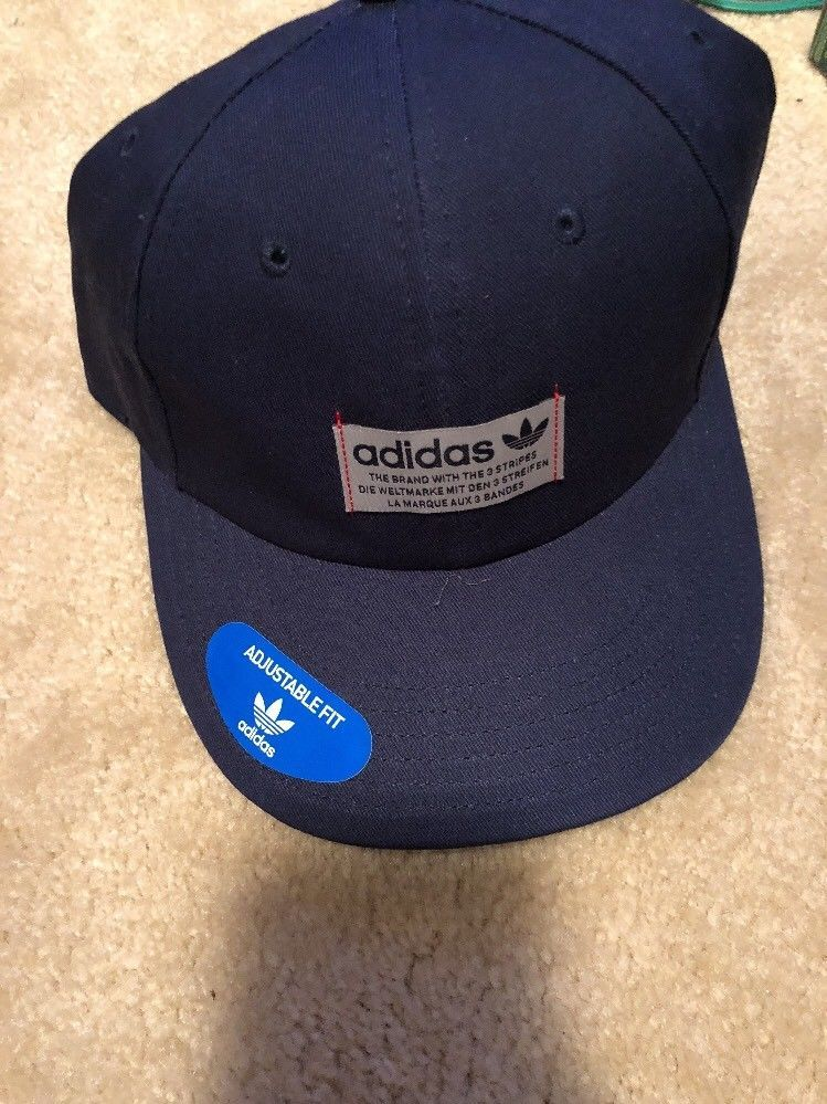 e790e92b1 Adidas Men's Original Relaxed Navy ColorHat Cap Adjustable Brand New ...