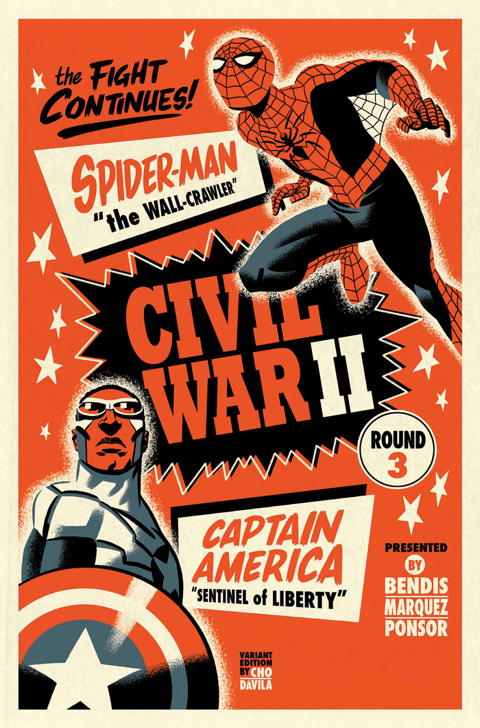 Marvel Comics July 2016 Solicitations CIVIL WAR II #3 (OF 7) BRIAN MICHAEL BENDIS (W) • DAVID MARQUEZ (A) Cover by MARKO DJURDJEVIC VARIANT COVER BY MICHAEL CHO (APR160864) CONNECTING BLACK …