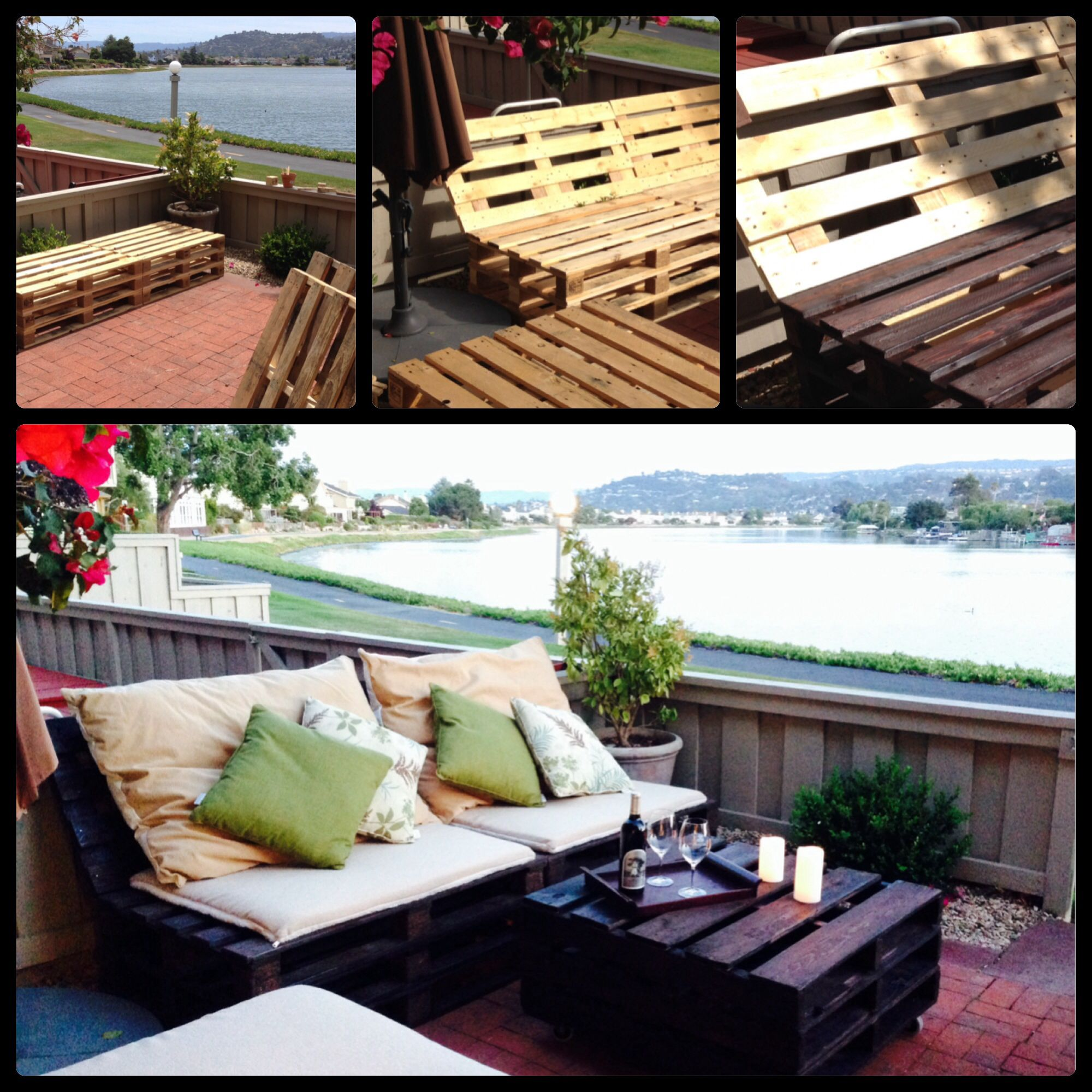 DIY Pallet Patio Furniture. Free pallets from Craigslist ...