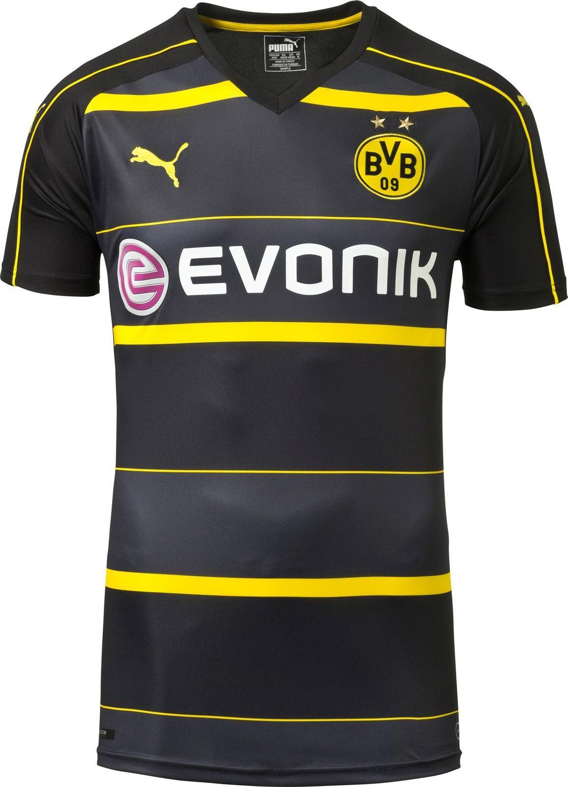 The new Borussia Dortmund 2016-2017 Away Kit boasts a very interesting  design.