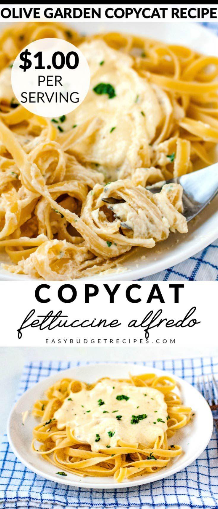 This Copycat Olive Garden Fettuccine Alfredo recipe takes ...