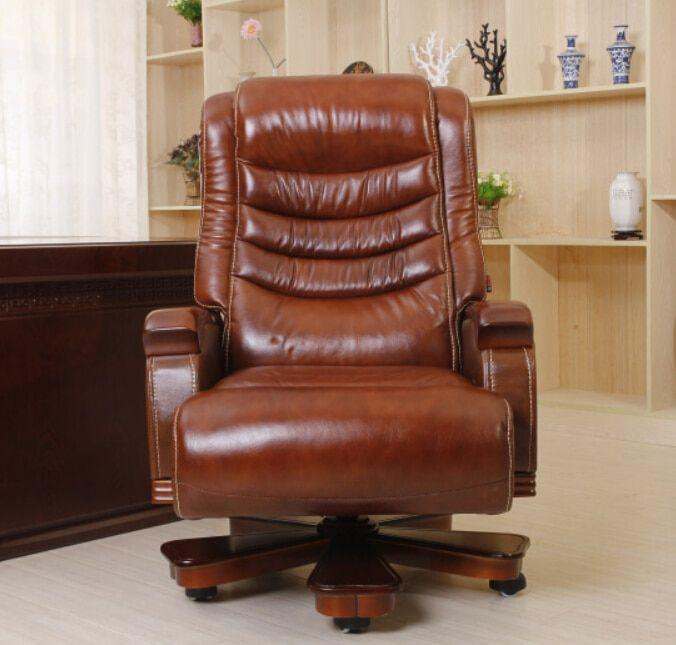 Luxury massage chair boss chair reclining high-back ...