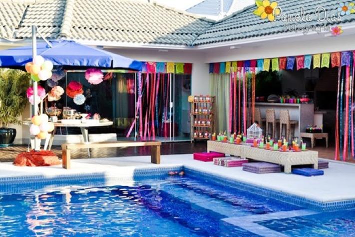Pin By Becca Dymond On 8th Fiesta Decor Fun Birthday Party Pool Birthday Party Childrens Birthday Party