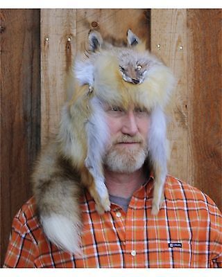 8b171803f458a Red Fox Mountain Man Style Fur Hat Made in Montana USA