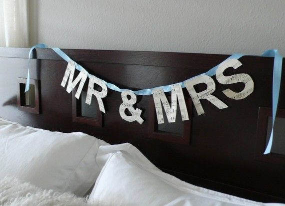 Cute idea for the room the night of the wedding.