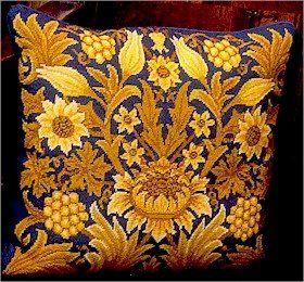 SUNFLOWER 1 Cushion Needlepoint KIT Beth Russell William Morris