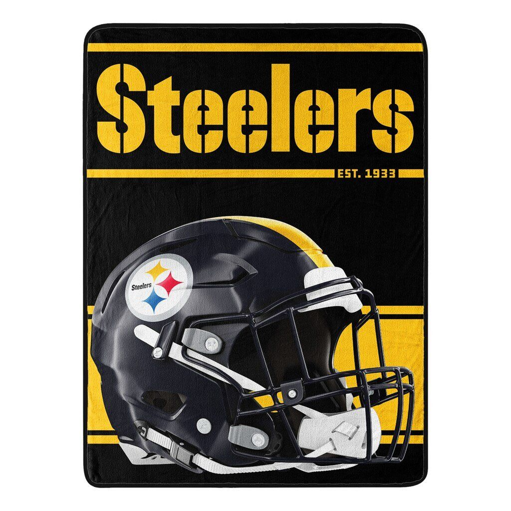 Pittsburgh steelers blanket 46x60 micro raschel run design