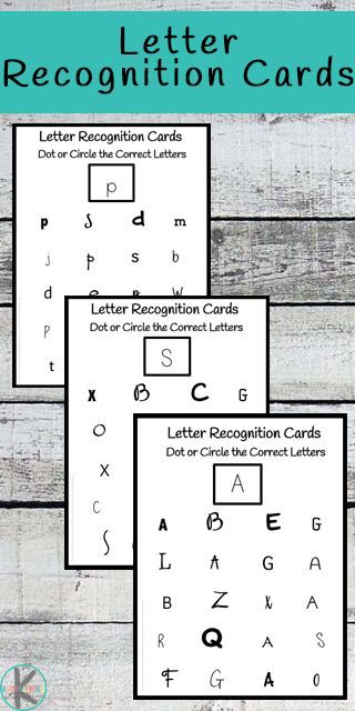 FREE Letter Recognition Cards are such a fun way for kids ...