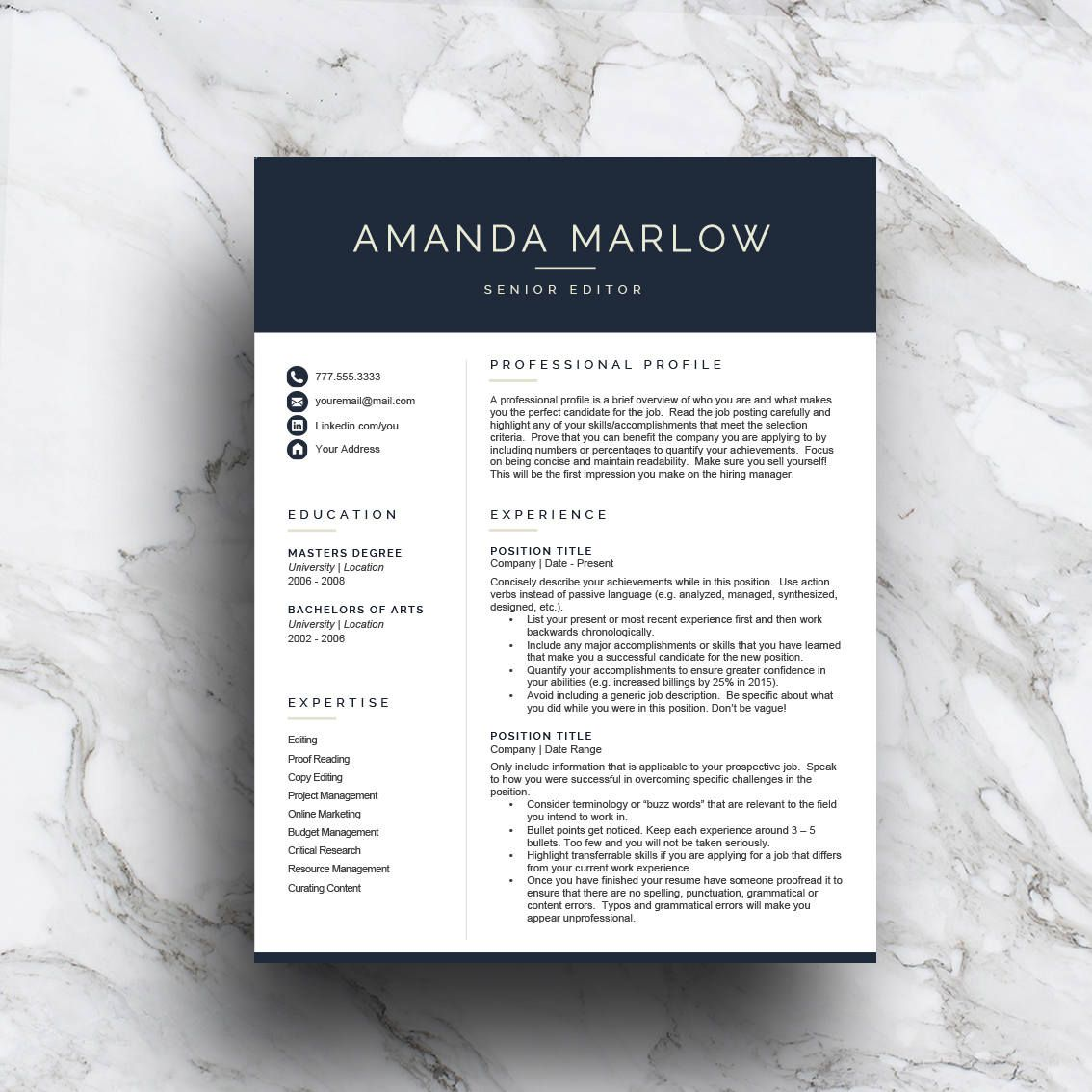 Take The Stress Out Of Writing Your Own Resume And Get A Head Start With A