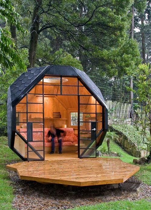 small wooden house |  spot : fantastic cool backyard designs