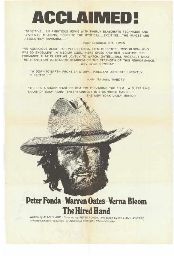 The Hired Hand (1971) (dir. Peter Fonda)  #movies #westerns #posters