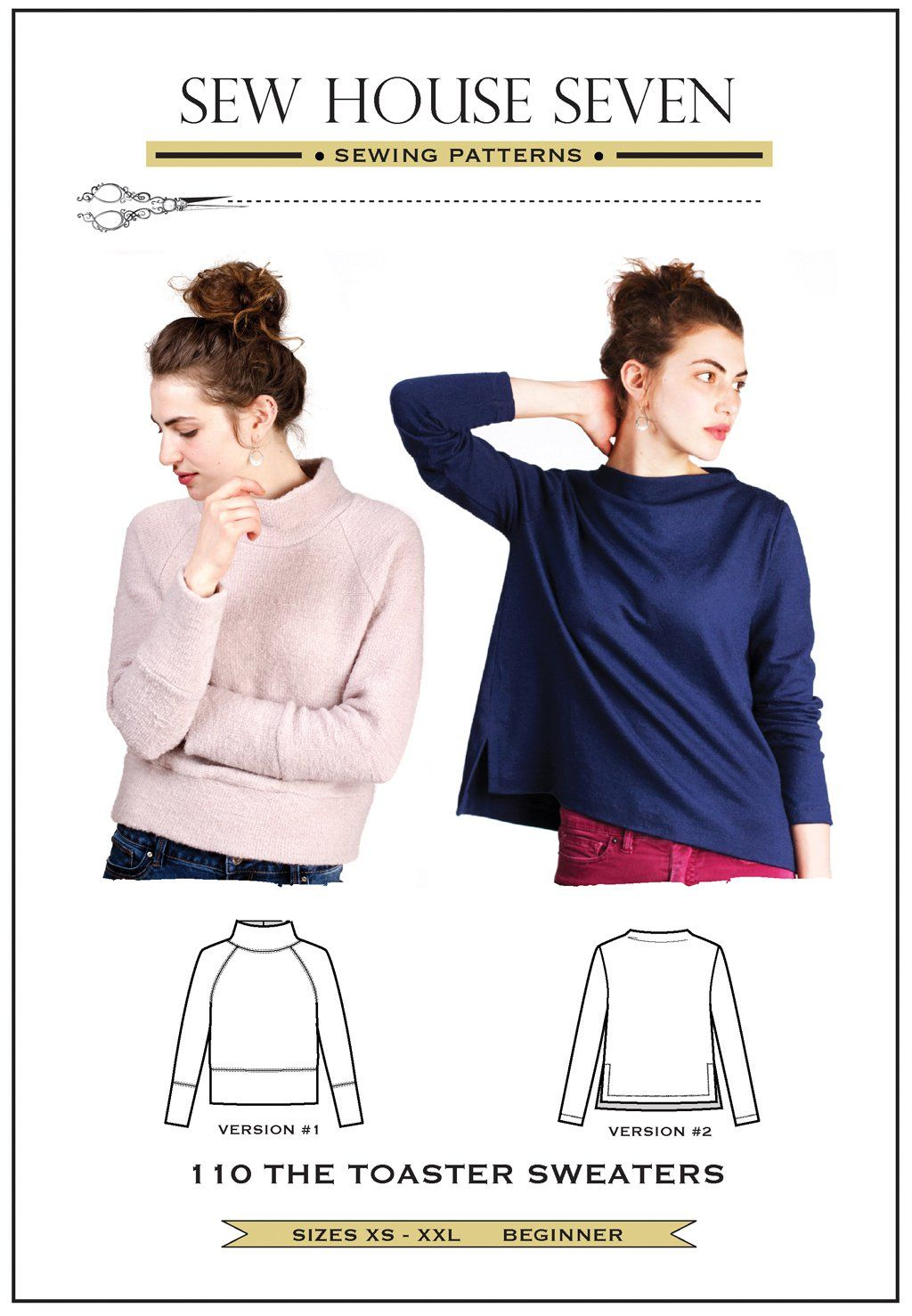 fc5f69e7afd47c Purchase the Sew House Seven 110 Toaster Sweaters sewing pattern and read  its pattern reviews. Find other Tops sewing patterns.