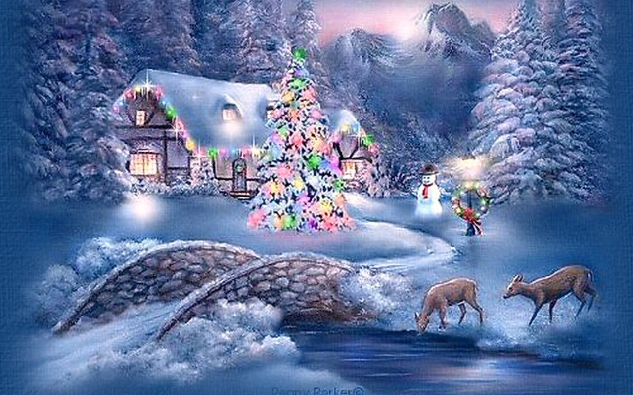 christmas scenery pictures christmas