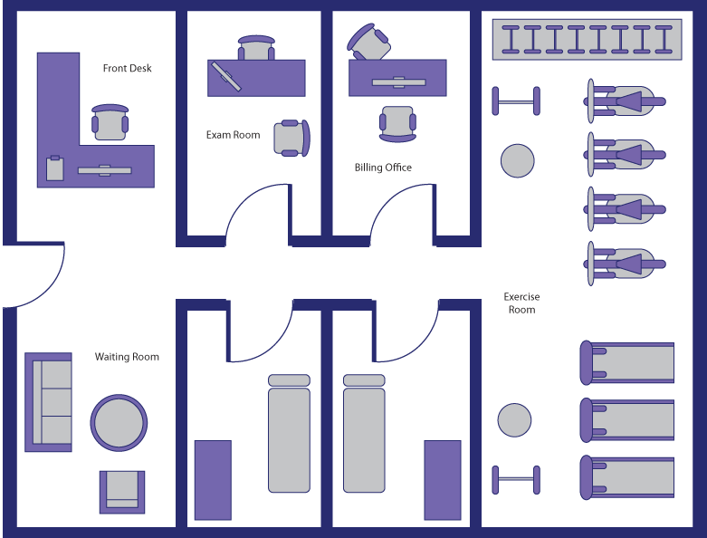 Physical therapy room layout google search clinic in for Room layout design online