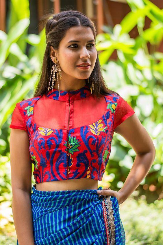 4a6a76036401e3 Front open blouse designs