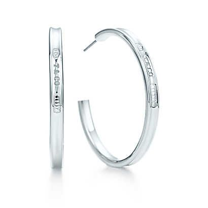 Tiffany 1837 Hoop Earrings In Sterling Silver Large