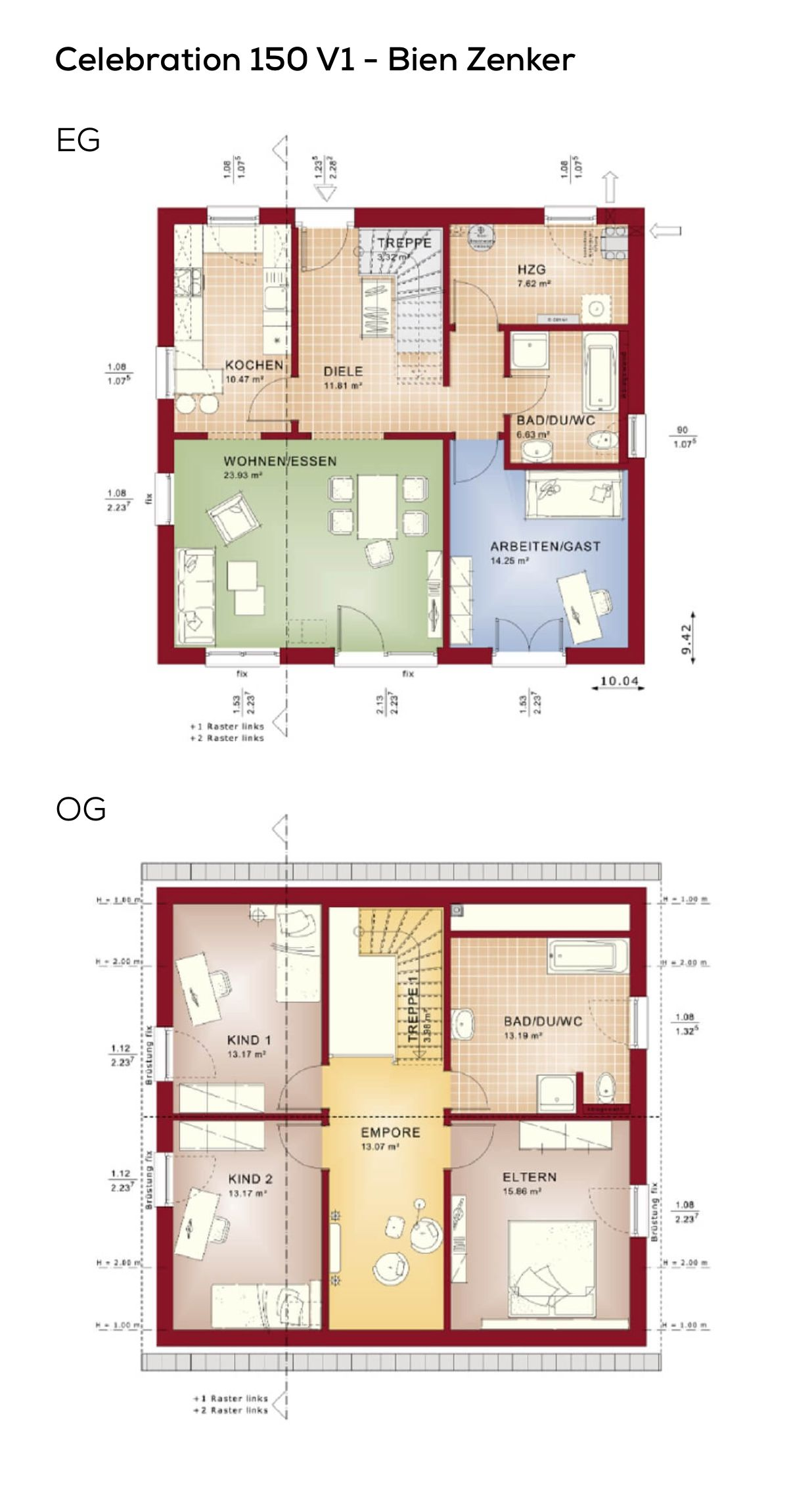 Treppenhaus Grundriss grundriss einfamilienhaus mit satteldach galerie im treppenhaus