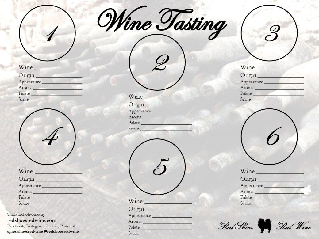 Wine Tasting Sheets For Home Use