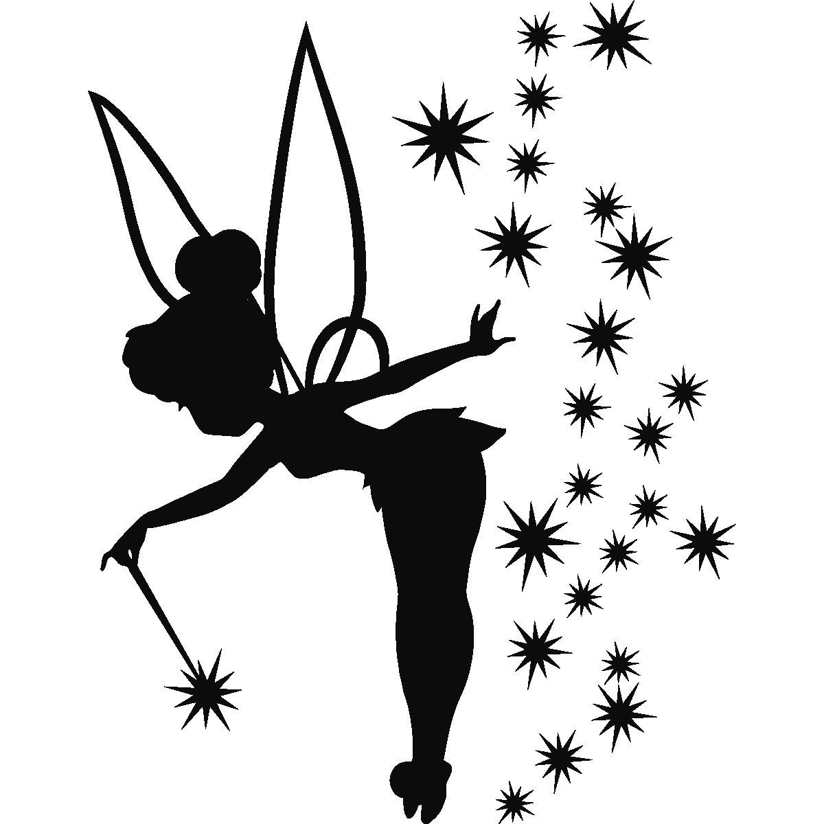 Fabuleux Sticker fée adorable | Tinkerbell, Silhouettes and Tattoo EA52