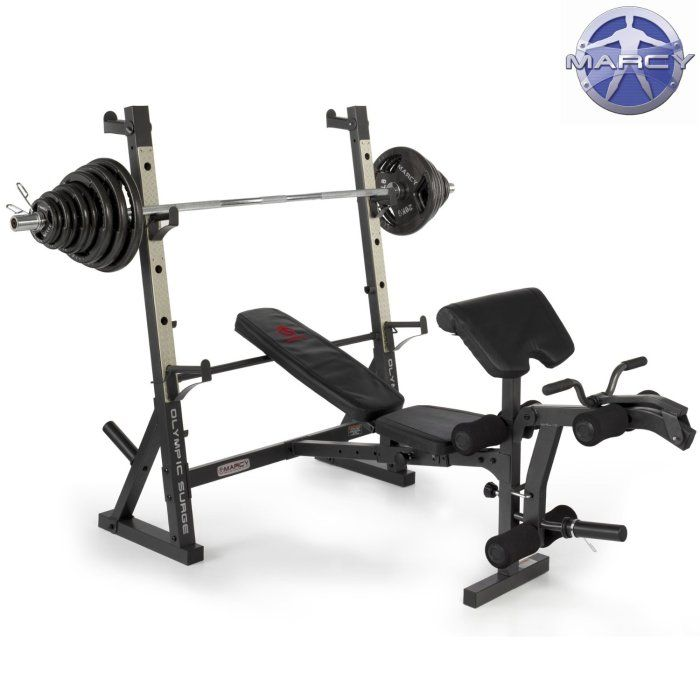 Marcy Diamond Elite Olympic Bench With 140kg Olympic Weight Set Leg Developer For Leg Extension And Leg Cur In 2020 Olympic Weight Set Olympic Weights Weight Set