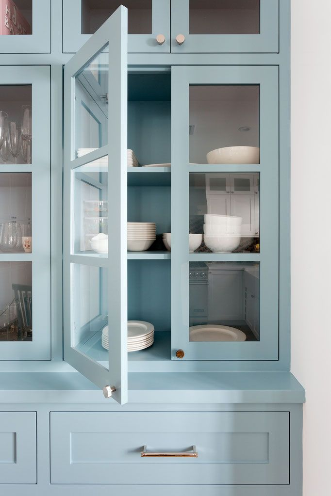 Blue Kitchen Hutch