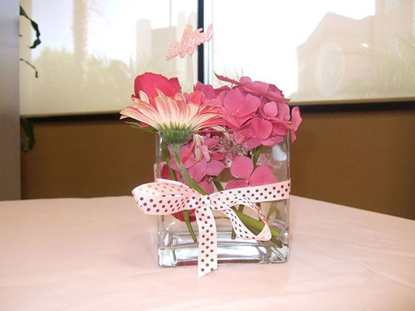 Flower Centerpiece For Baby Shower
